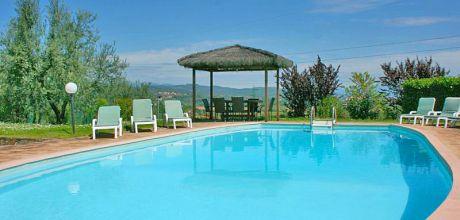 Ferienhaus Toskana Monte San Savino 345 mit privatem Pool, Wohnfläche 150qm. Wechseltag Samstag, Nebensaison flexibel auf Anfrage.