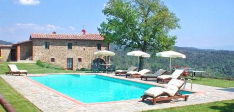 Ferienhaus Toskana Ciggiano 350 mit privatem Pool für 8 Personen + Hund, Wohnfläche 120qm. Wechseltag Samstag, Nebensaison flexibel.