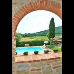 Ferienhaus Toskana TOH360 - Blick in den Garten
