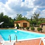 Ferienhaus Toskana TOH360 - Liegestühle am Pool