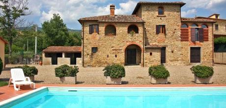 Ferienhaus Toskana Castiglion Fiorentino 360 mit Panoramablick und Pool, Wohnfläche 112qm. Wechseltag Samstag.