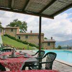 Ferienhaus Toskana TOH375 überdachte Terrasse