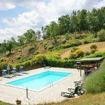Ferienhaus Toskana TOH375 Blick auf den Pool
