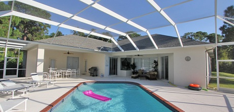 Komfort – Villa Manasota Beach 41712 mit beheizbarem Pool in Strandnähe (2km), Grundstück ca. 3.000qm, Wohnfläche 250qm. Wechseltag flexibel – Mindestmietzeit 1 Woche.