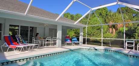 Komfort-Ferienhaus Manasota Beach 42465 mit Pool in Strandnähe (ca. 800m), Grundstück ca. 2.000qm, Wohnfläche ca. 250qm. Wechseltag flexibel.