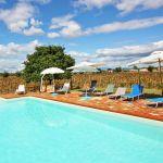 Toskana Ferienhaus TOH405 Pool und Ausblick