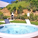 Ferienhaus Toskana TOH102 - Garten mit Whirlpool