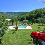 Ferienhaus Toskana TOH105 - Garten mit Pool