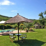 Ferienhaus Toskana TOH105 - Sitzgelegenheiten im Garten