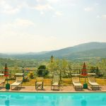 Ferienhaus Toskana TOH110 Blick über den Swimmingpool