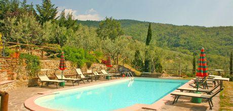 Ferienhaus Toskana Castiglion Fiorentino 110 mit Pool und Ausblick, Wohnfläche 60qm. Wechseltag Samstag, Nebensaison flexibel.