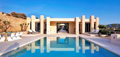 Luxus-Villa Calo d'en Real 5803 mit Pool und Meerblick auf Ibiza mieten. Wechseltag Samstag!