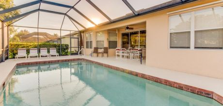 Villa Florida Fort Myers 3405 mit beheizbarem Pool und Internet mieten. Wechseltag flexibel. 2018 buchbar.