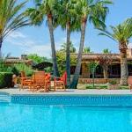 Ferienhaus Mallorca MA2210 - Hausansicht vom Pool