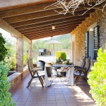 Ferienhaus Mallorca MA2300 überdachte Terrasse (2)