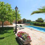 Ferienhaus Mallorca MA2310 Garten mit Blumen und Pool