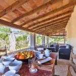 Ferienhaus Mallorca MA2110 überdachte Terrasse