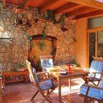 Ferienhaus Mallorca MA2286 überdachte Terrasse mit Gratenmöbel