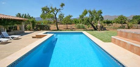 Mallorca Nordküste – Ferienhaus Pollensa 2110 mit Pool, Strand 4,5km. 29.06. – 07.09.19: Wechseltag Samstag, Nebensaison flexibel.