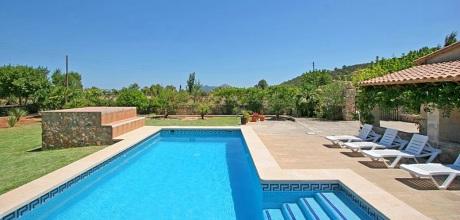 Mallorca Nordküste – Ferienhaus Pollensa 2110 mit Pool, Strand 4,5km. 30.06. – 08.09.18: Wechseltag Samstag, Nebensaison flexibel.