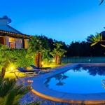 Ferienhaus Mallorca MA1257 - Poolterrasse am Abend