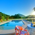 Ferienhaus Mallorca MA1257 - Poolterrasse mit Gartenmöbel