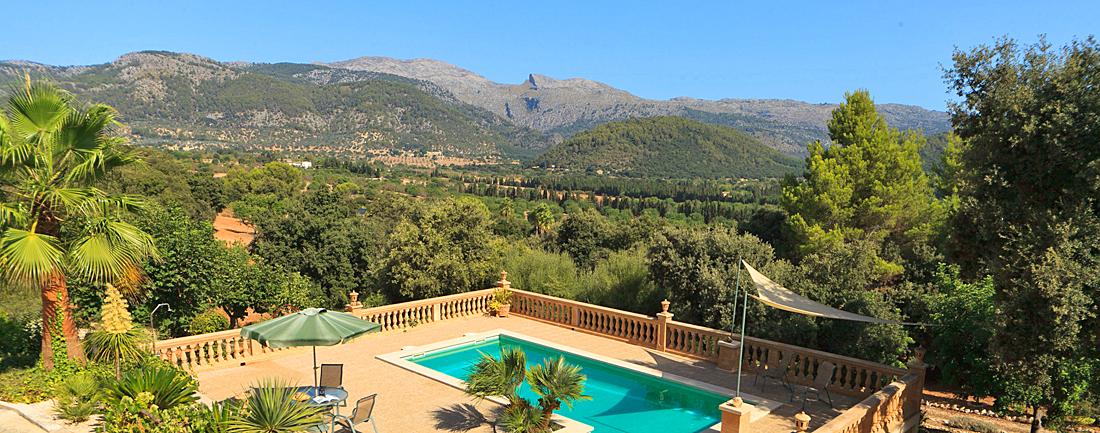 Ferienhaus Mallorca MA1283 Blick über den Pool