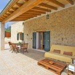 Ferienhaus Mallorca MA2087 überdachte Terrasse
