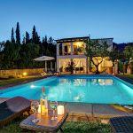 Ferienhaus Mallorca MA2160 Poolbeleuchtung am Abend