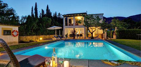 Mallorca Nordküste – Komfort-Ferienhaus Pollensa 2160 mit Pool auf gepflegtem Gartengrundstück, Strand 5km. An- und Abreisetag Samstag! 2018 buchbar.