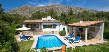 Mallorca Nordküste – Komfort Ferienhaus Pollensa 2165 mit Pool und Internet für 4 Personen mieten, Strand 6km. An- und Abreisetag Samstag! 2018 buchbar.