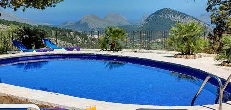 Mallorca Nordküste – Finca Pollensa 2259 mit Pool, Internet und Traumblick für 4 Personen. Wechseltag Samstag – Mindestmietzeit 1 Woche