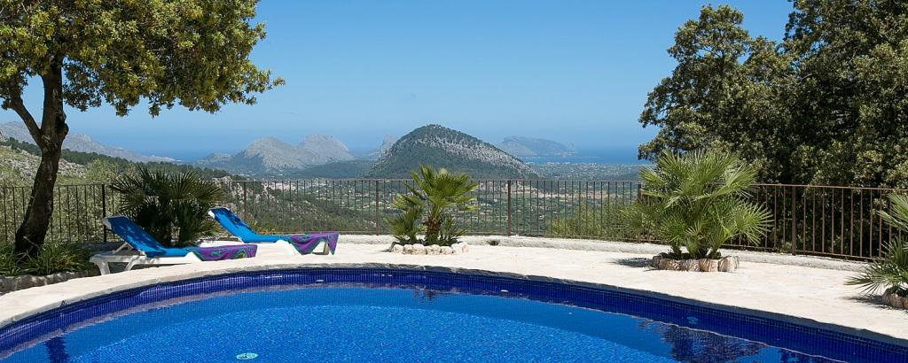 Ferienhaus Mallorca 2259 mit Pool und Meerblick