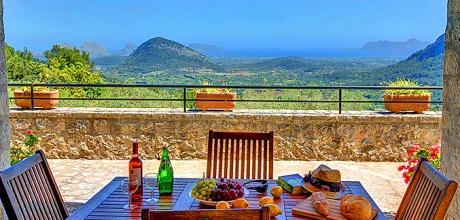 Mallorca Nordküste – Finca Pollensa 2261 mit Internet, Pool und Traumblick mieten. Wechseltag Samstag.