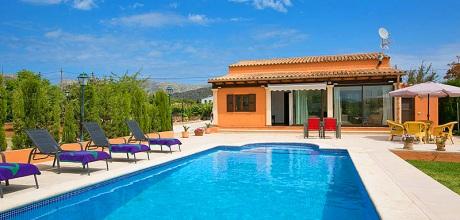 Mallorca Nordküste – Komfort Ferienhaus Pollensa 2291 mit Pool mieten, Strand 3,7km. An- und Abreisetag Samstag! 2018 jetzt buchen!