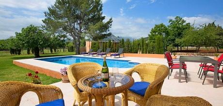 Mallorca Nordküste – Komfort Ferienhaus Pollensa 2291 mit Pool mieten, Strand 3,7km. An- und Abreisetag Samstag!