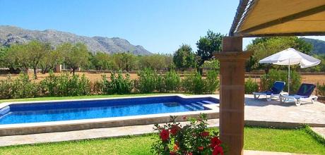 An der Nordküste von Mallorca liegt die Deluxe Finca Pollensa 1253 mit Pool und Internet für 2 Personen, Strand = 5km. An- und Abreisetag Samstag!