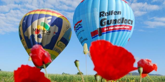 Mit dem Heißluftballon über Mallorca