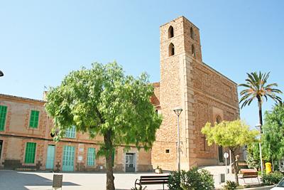 Kirche in S'Horta auf Mallorca