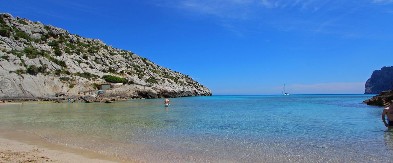 Strand von Cala San Vicente auf Mallorca
