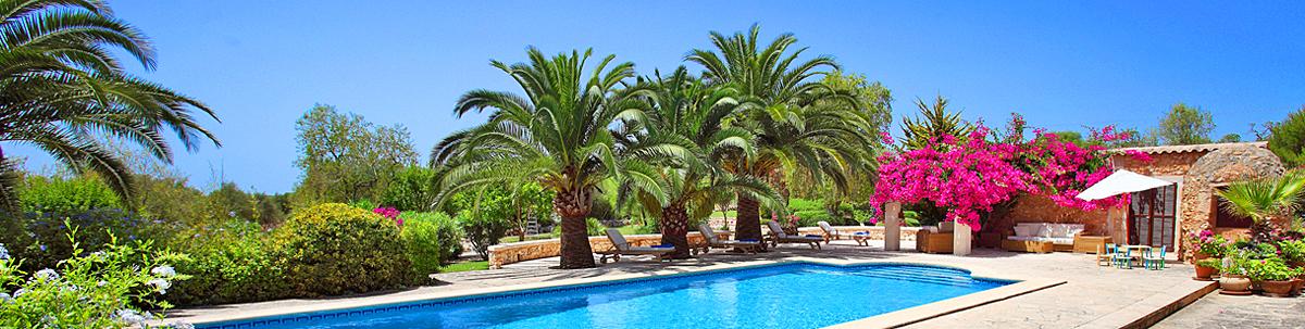 Komfortabel eingerichtetes Ferienhaus Mallorca 5832 mit Pool und eigenem Tennisplatz in der Nähe von Cas Concos