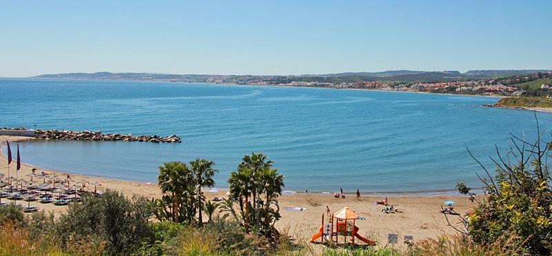 Strand von Estepona an der Costa del Sol