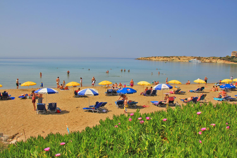 Strand auf Zypern, bei Paphos