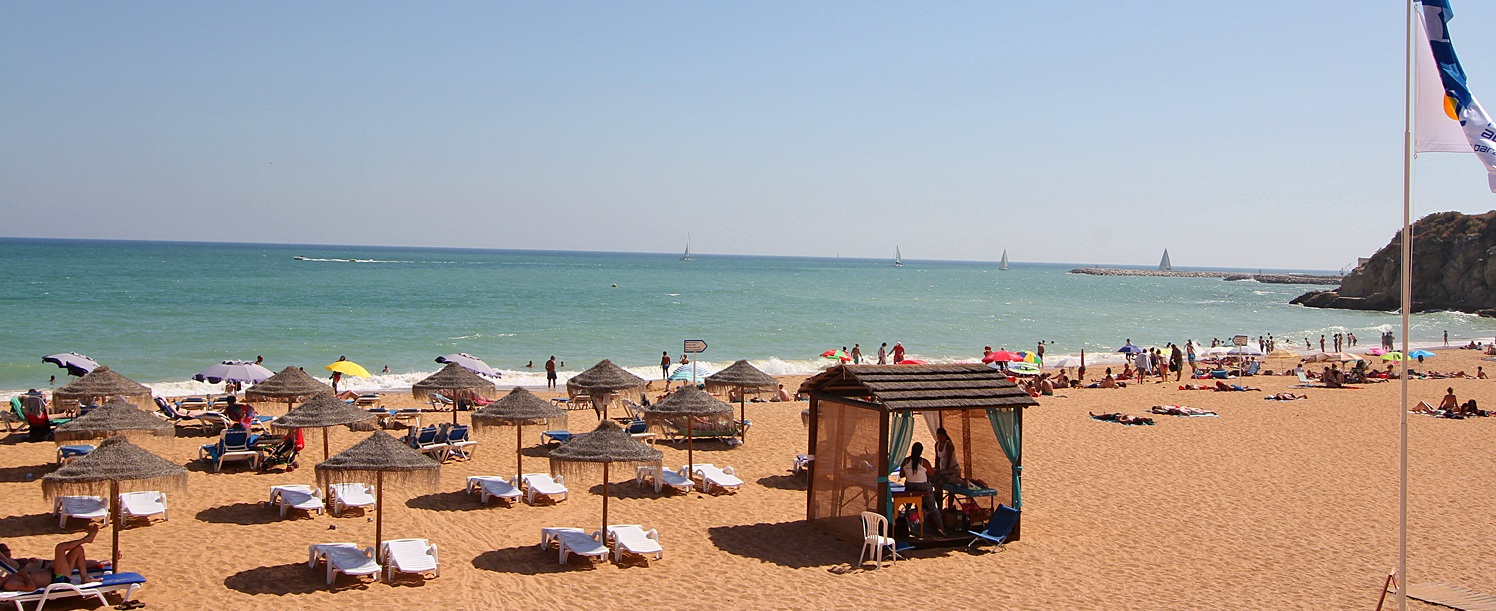 Albufeira Strand an der Algarve