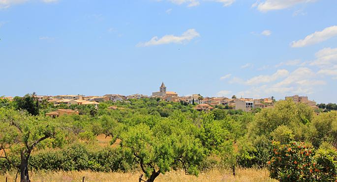 Blick auf Campanet auf Mallorca