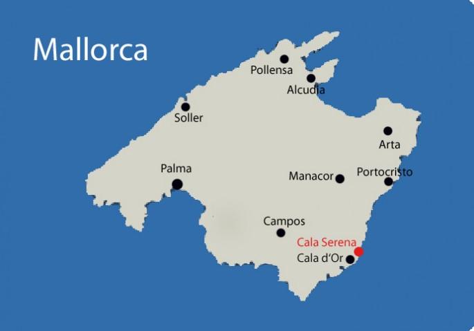 Cala Serena auf Mallorca Karte
