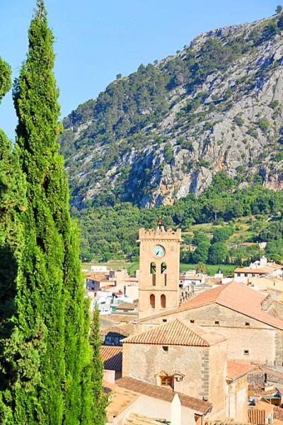 Blick auf Pollensa auf Mallorca