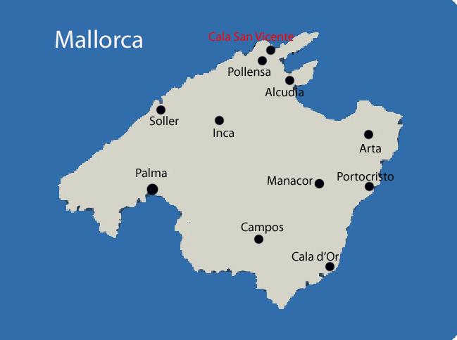 Mallorca Karte Strande.Cala San Vicente Auf Mallorca Mit Ferienhausern Mit Pool