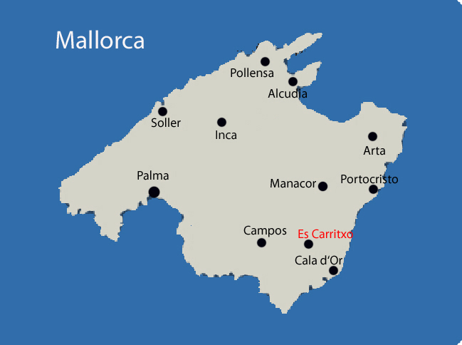 Es Carritxo auf Mallorca Karte
