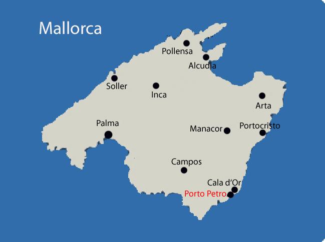 Porto Cristo Karte.Porto Petro Mallorca Karte Kleve Landkarte